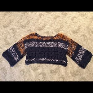 NWOT Anthropologie XS knit cropped sweater